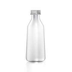 Bottle or glass bottle with lid separated on white background.