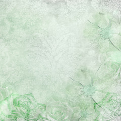 Green Abstract grunge texture background