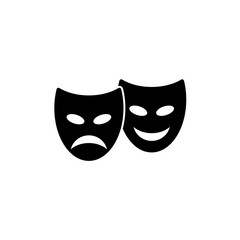 theatrical mask. vector icon