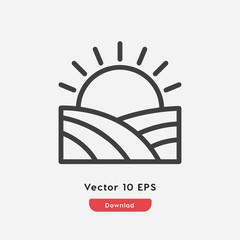 farm logo icon vector