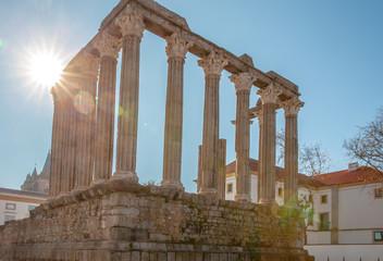Roman Temple Diana in Evora Portugal Alentejo