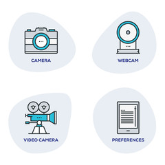 PHOTOGRAPHY DEVICES ICON SET