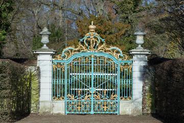 gate at  Schwetzingen Palace gardens