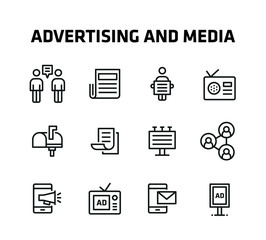 Advertising And Media Icons