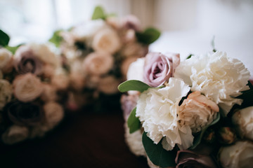 Beautiful wedding bouquets for the bride and her girlfriends