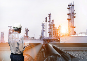 production engineer working on plant oil and chemical refinery