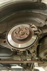 Repair of brake system on car wheels