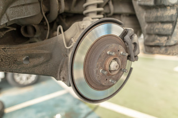 Repair of brake system on car wheels