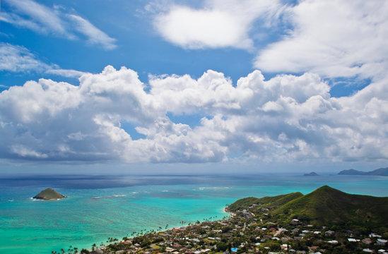 View of Lanikai Beach, Kailua, Hawaii