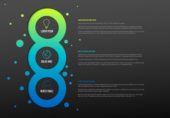 Multipurpose Infographic template with three elements
