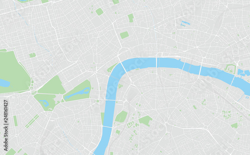 image about Printable Map of London titled London, British isles, printable map\