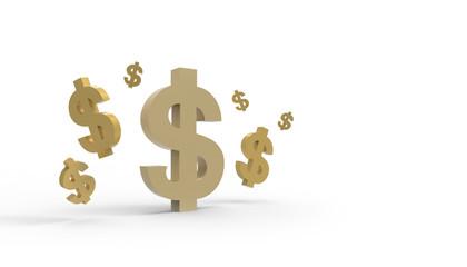 Dollar Symbol isolated on white background