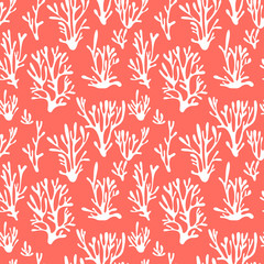 Vector seamless pattern background in trendy color of 2019. Vector illustration.