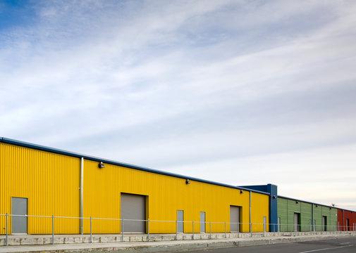 Colorful Warehouses, Seattle, Washington