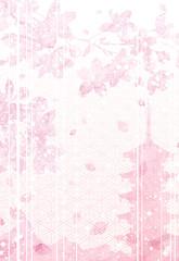 桜 さくら 菱形模様 背景 素材