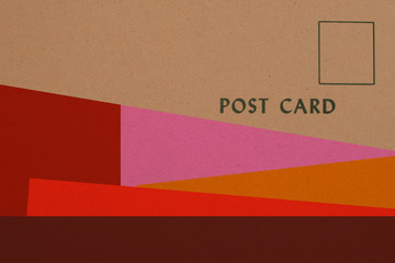 Post Card - Vintage paper graphic design
