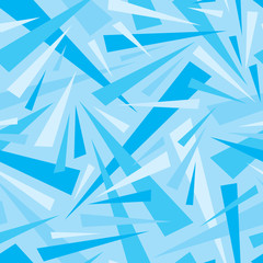 Abstract background geometric seamless pattern in blue colors. Decorative mosaic. Triangles ornament. Graphic design. element.