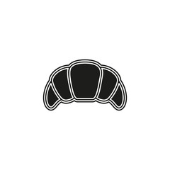 vector croissant illustration, breakfast icon - pastry symbol isolated