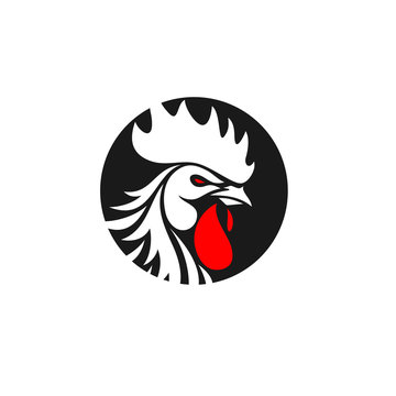 Rooster Logo Designs Concept, Chicken Head Mascot Logo Designs
