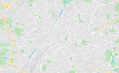 Brussels, Belgium, printable map