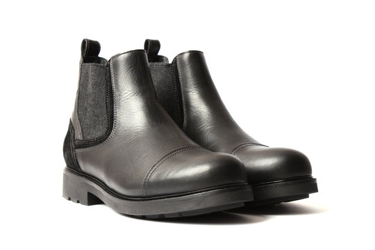 men's shoes on a white background. Men's shoes.