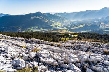 Schrattenfluh mit Blick Richtung Sörenberg, Lucerne, Switzerland, Europe