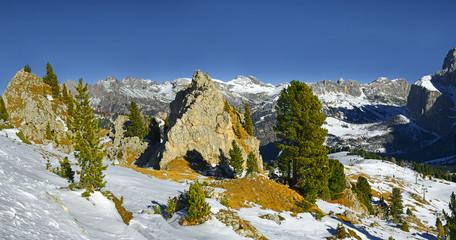 Val Gardena, Bolzano Province, Alpe di Siusi, Dolomiti mountain - South Tyrol, Italy, Europe, UNESCO World Heritage Site