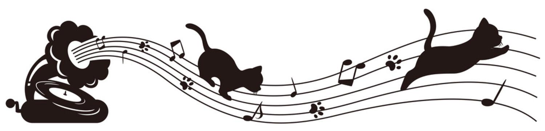 蓄音機と猫のライン