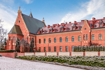 KRAKOW, POLAND -JANUARY 20, 2018: The Divine Mercy Sanctuary, Roman Catholic basilica