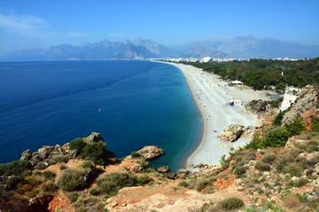 Piękna plaża w Antalya, Turcja