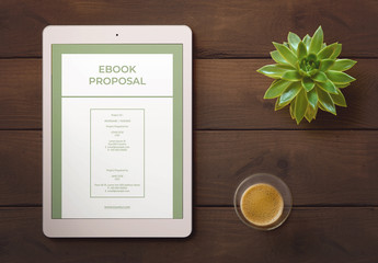 Green and White Web Proposal Layout
