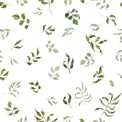 Floral seamless pattern in watercolor