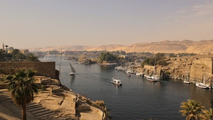 Felucca Aswan der Nil Ägypten Fototapete