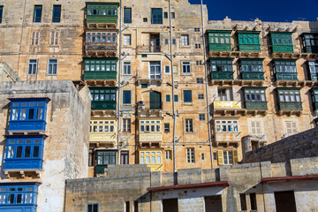 Fototapete - Historic Architecture in Valletta, Malta