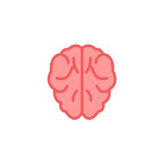 Brain flat vector icon sign symbol