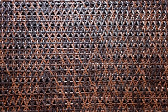 Wicker cloth. Table setting. Decor. Interior. The texture of the wicker cloth. Tableware. Serving napkin.