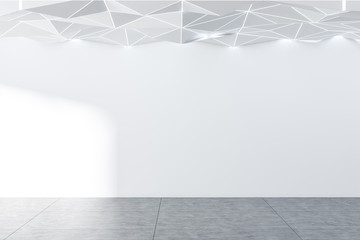 Empty white room with white ceiling