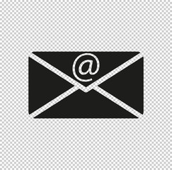 email  - black vector icon