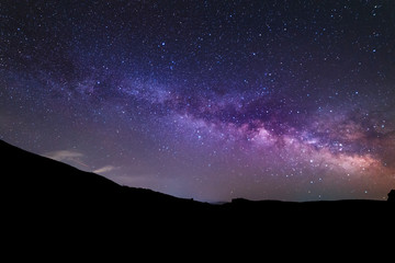 Milky way galaxy, beautiful starry night.