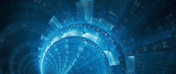 Blue new futuristic technology banner abstract background