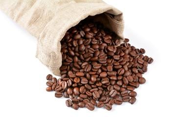 ziarna kawy w worku