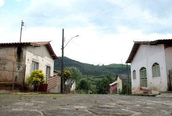A view of an abandoned village near the Gongo Soco mine operated by Vale SA that was evacuated, in Barao de Cocais
