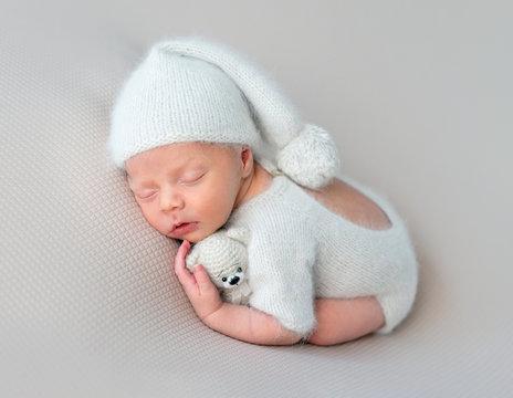 Cute baby sweetly sleeping
