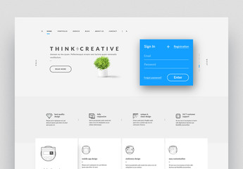 Website Layout with Icons