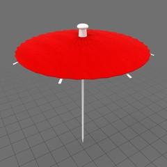 Open cocktail umbrella