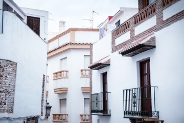 street and houses in spain