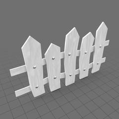 Stylized fence