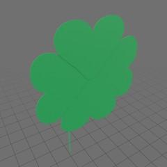Stylized four leaf clover