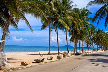 Beach Ban Krut Beach with the road