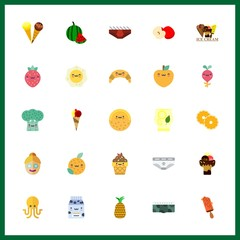 25 freshness icon. Vector illustration freshness set. broccoli and radish icons for freshness works